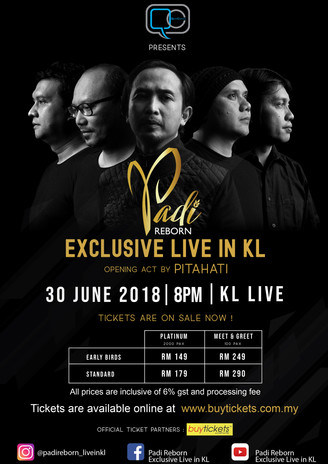 PADI REBORN EXCLUSIVE LIVE IN KL