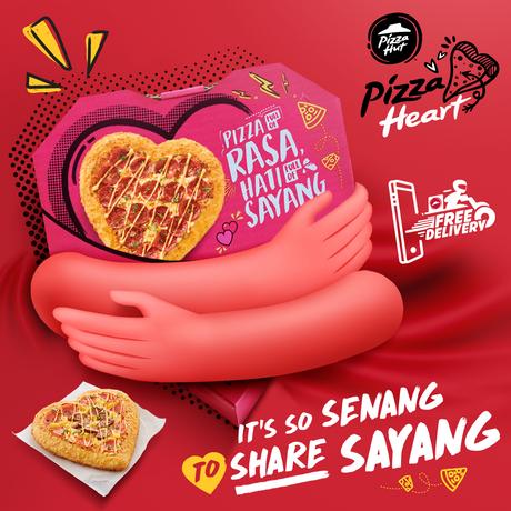 REALISASI PERASAAN SAYANG DENGAN KIRIMAN 'PIZZA HEART' BERBENTUK HATI DARI PIZZA HUT