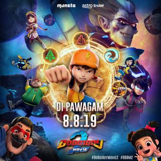 FILEM ANIMASI BOBOIBOY 2 MOVIE BAKAL MULA TAYANGAN 8 OGOS 2019