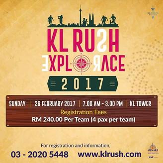 Menangi RM10,000 KL Rush Explorace 2017 anjuran Menara Kuala Lumpur