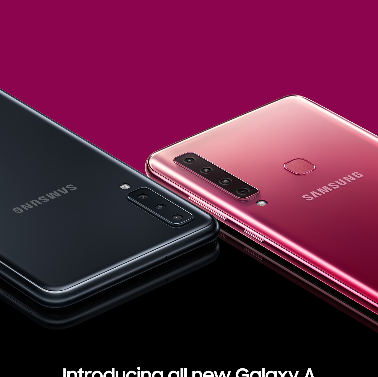 Galaxy A7 Black & A9 Bubblegum Pink - Co