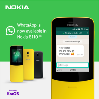 WHATSAPP IS NOW AVAILABLE ON NOKIA 8110