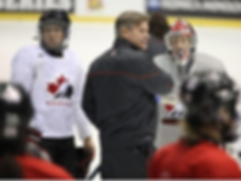 Ryan Walter and the Canadian National Women's Team