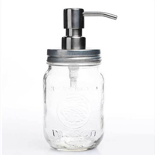 Mason Jar With Soap Dispenser