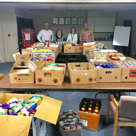 2/28/2019: Food donations from local businesses and people