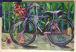 Kathys bike 22x36 acrylic on canvas