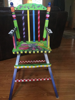 Up Cycled Antique High Chair