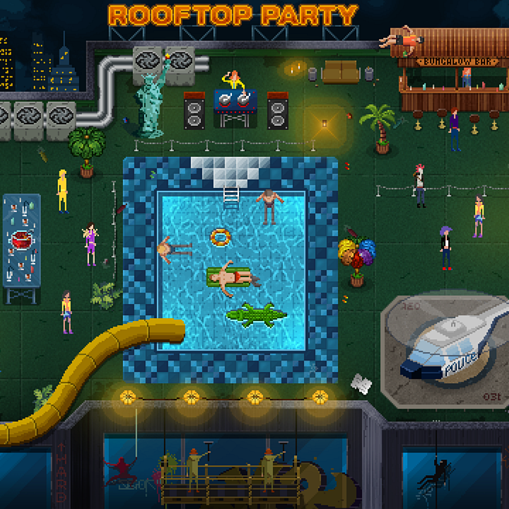 Party Hard - the video game about stopping parties  Press-kit