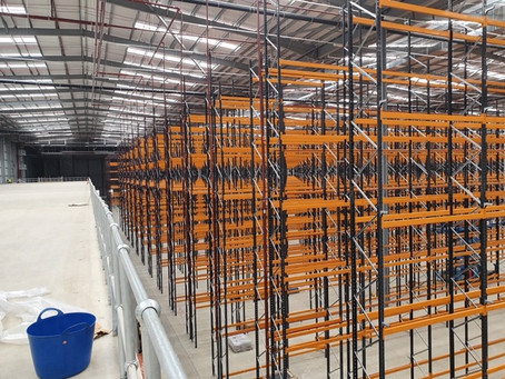 Racking installation in a Bedfordshire distribution centre