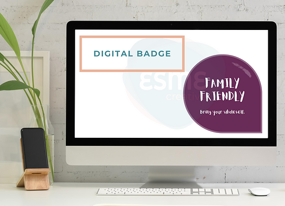 Family-friendly digital badge