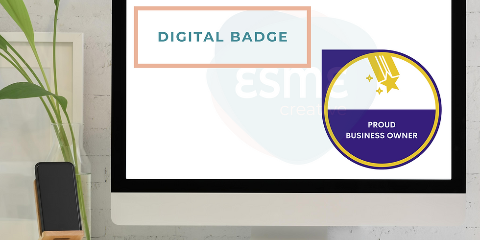 Design a digital badge on Canva