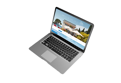 Small business website designers laptop