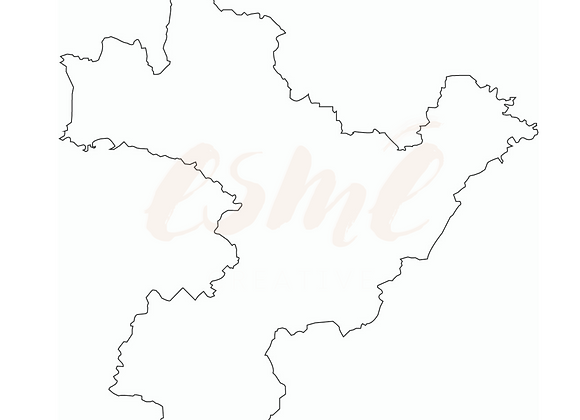 South Derbyshire Map Vector File