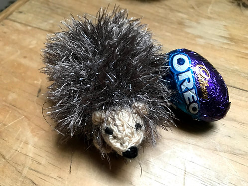 Hedgehog Guardian - Pocket sized with hidden chocolate egg