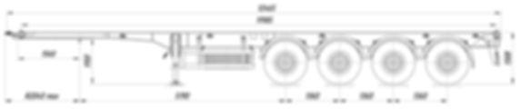 Полуприцеп-контейнеровоз четырехосный 84