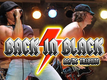 BACK IN BLACK AC/DC TRIBUTE BAND HEADLINING DENTON DRIVE LIVE! ON APRIL 10