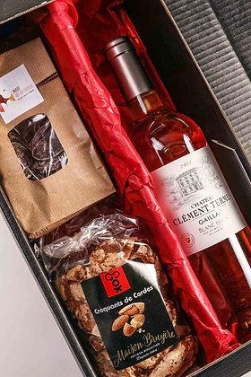 Coffret gourmand vin et chocolat solo
