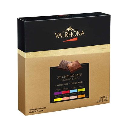 Coffret Chocolat noir & lait Valrhona - grands crus 160g