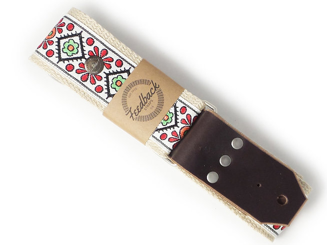 Vintage Folk Flowers Guitar Strap
