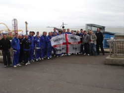 With the team at Southend 2010