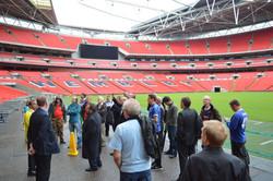 Branch tour of Wembley stadium