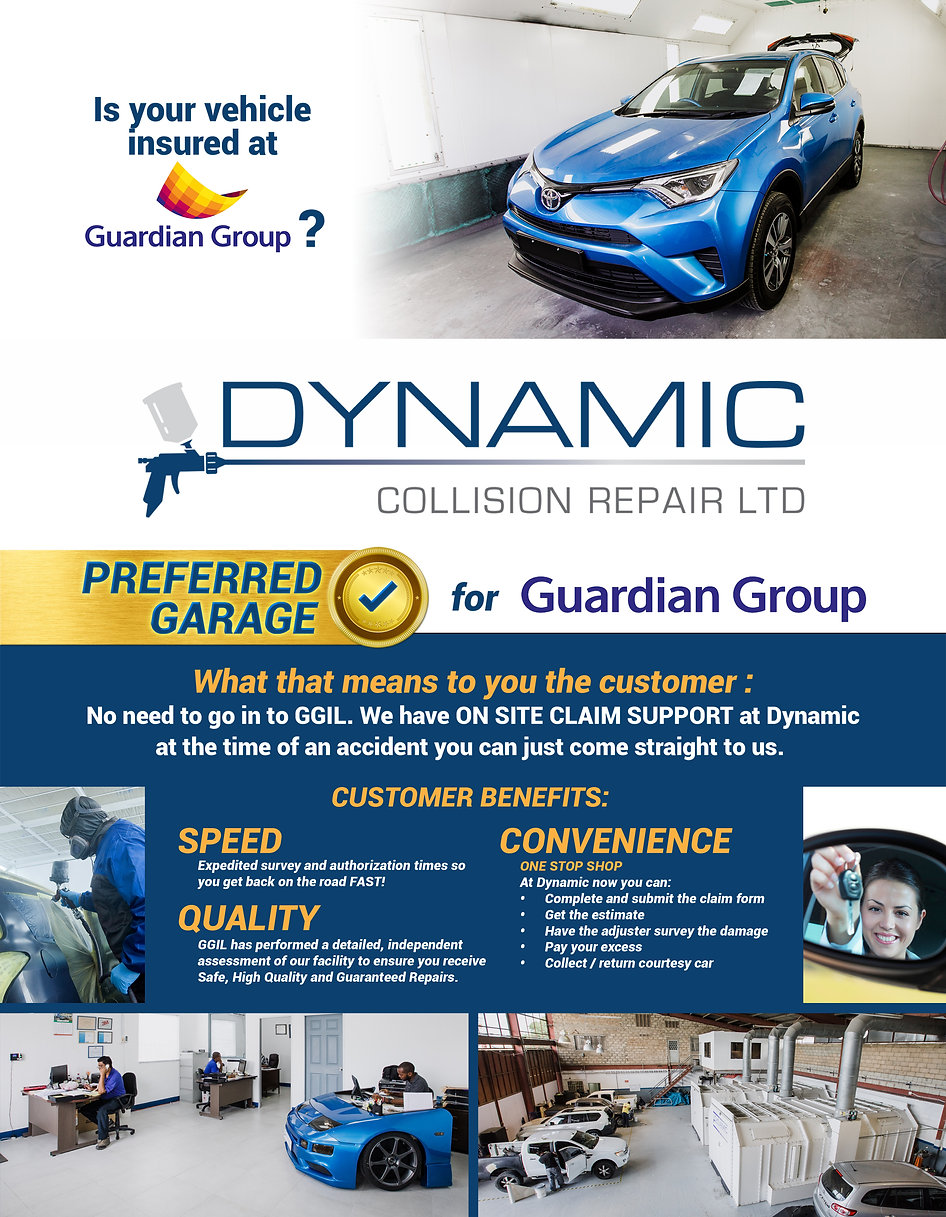 Authorised Guardian General Garage. Dynamic Collision Repair. Motor Claims