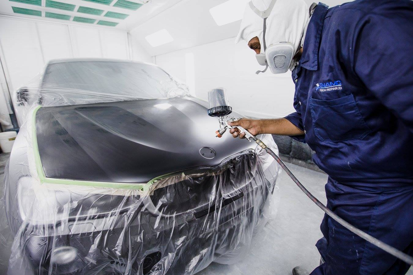 Factory Finish. Car Painting.