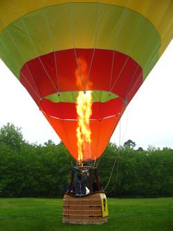 Survol montgolfière châteaux Loire