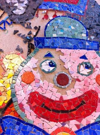 Clown en construction
