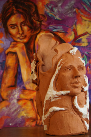 Vase-Sculpture les Dryades et les arômes N°1