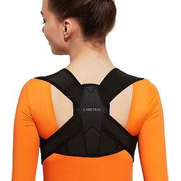 Posture Corrector for Women and Men, Caretras Adjustable Upper Back Brac