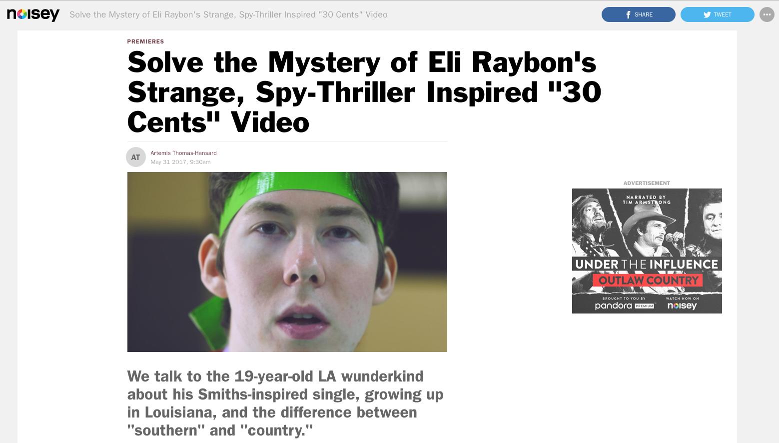 Eli Raybon Noisey