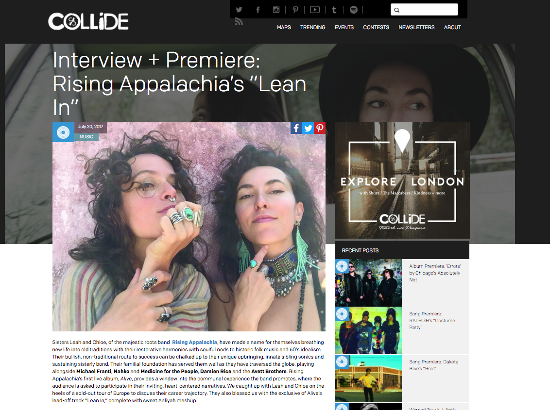 Rising Appalachia on Culture Collide