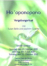Flyer Seminar Hooponopono 2020 Din A 5.j