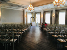 Wedding Ceremony and alter at The Terraces on Sir Tyler
