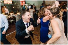 Guest dance at wedding reception