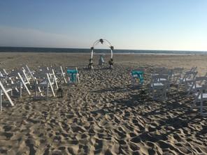 Beach Wedding Ceremony Setup