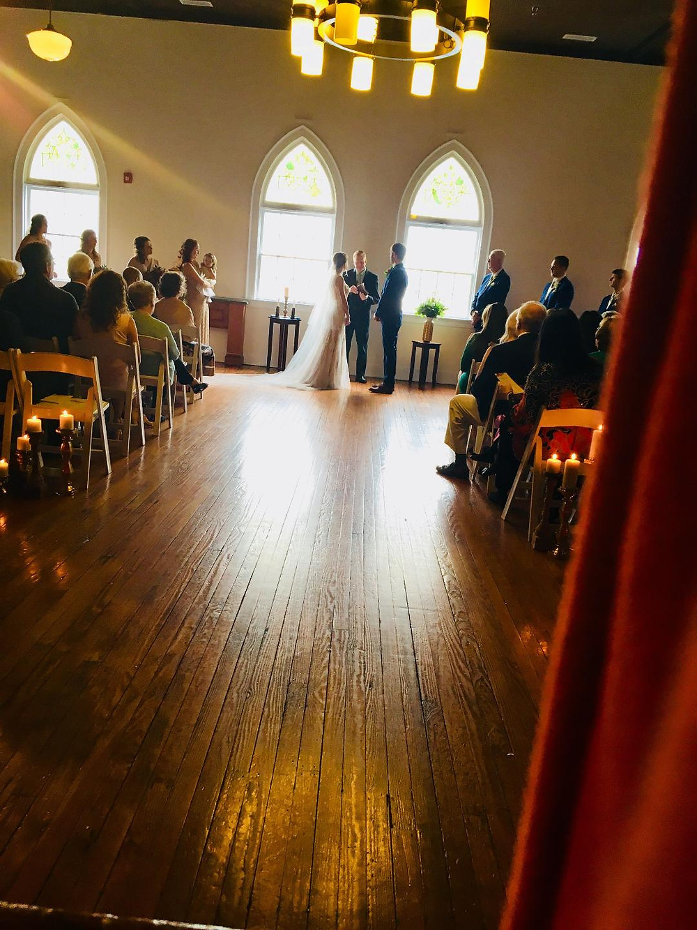 Bride and Groom, Wedding Vows, Downtown Wedding Ceremony