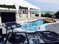 DJ Setup for Beach House Wedding