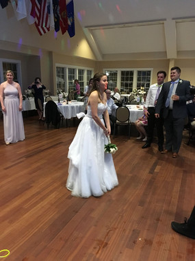 Bouquet Toss at the Southport Community Center