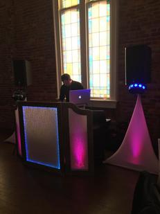 Custom Built DJ Facade with uplights