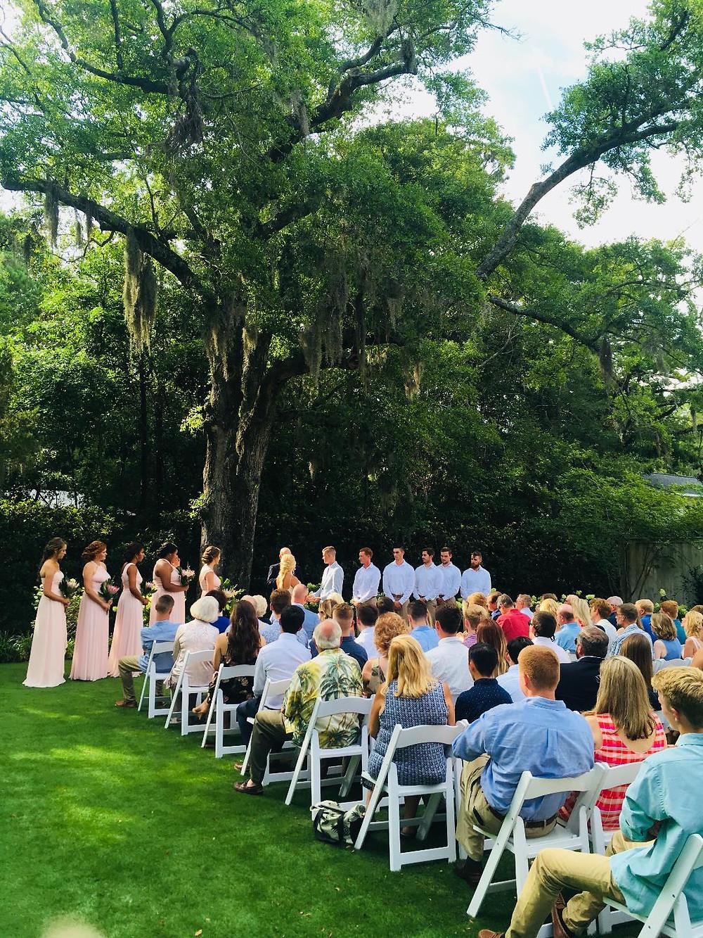 wedding ceremony in Wrightsville Beach NC