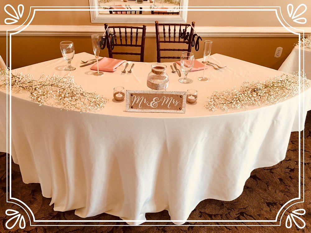 Bride and Grooms Head Table