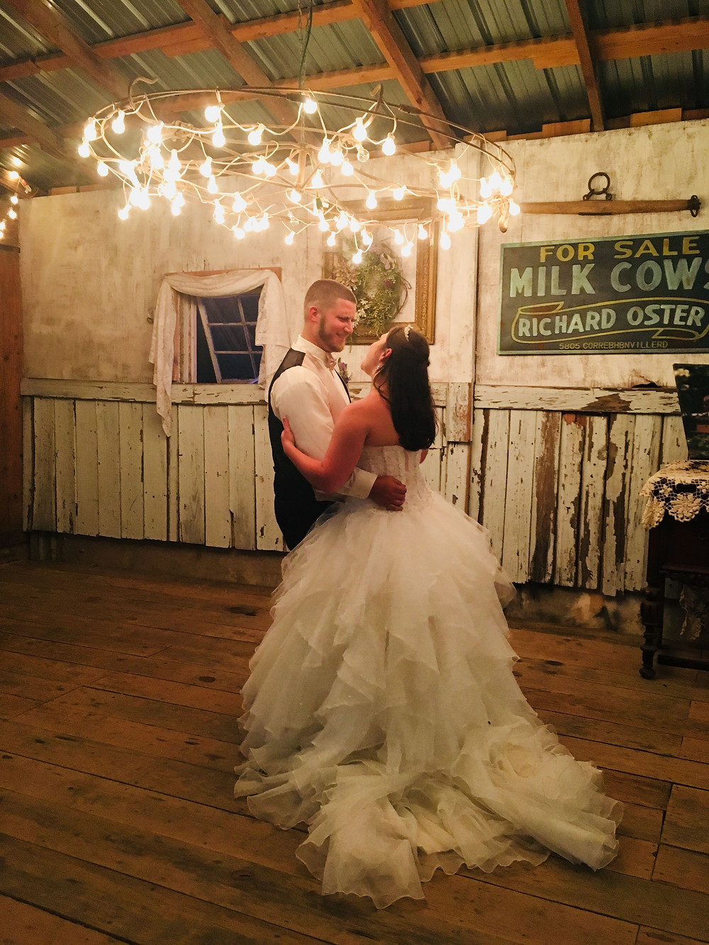 Bride and Groom, Rustic Wedding