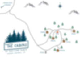 map of our five cabins