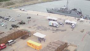 鯵ヶ沢町七里長浜港 自衛隊・警察・消防・海上保安部 合同催事に参加しました。