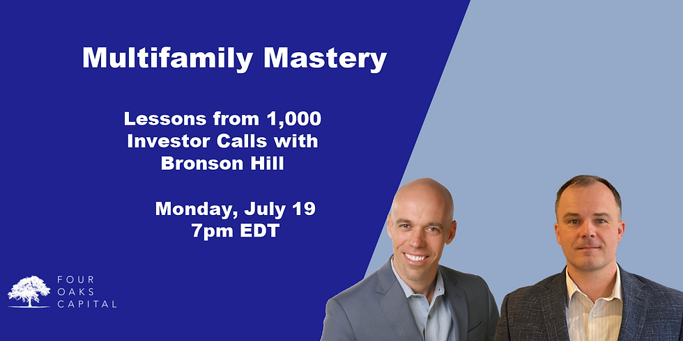 Lessons from 1000 Investor Calls with Bronson Hill