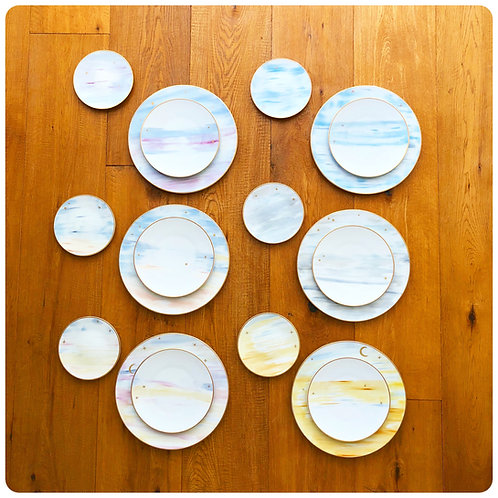 """West skies story""Set of 3 plates"