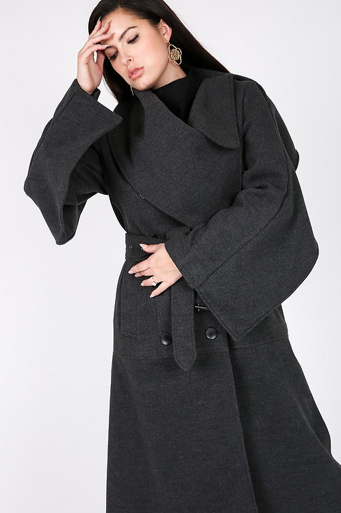 Double Breasted Winter Trench Coat