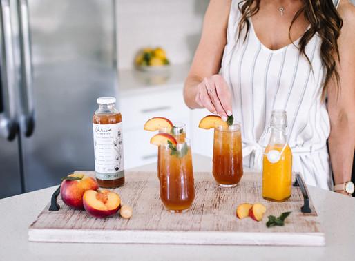 Spiked Peach Tea Cocktail